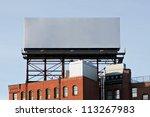 a large blank urban billboard...   Shutterstock . vector #113267983