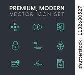 modern  simple vector icon set... | Shutterstock .eps vector #1132680527