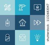 modern  simple vector icon set... | Shutterstock .eps vector #1132683047