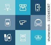 modern  simple vector icon set... | Shutterstock .eps vector #1132683287