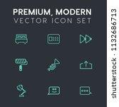 modern  simple vector icon set... | Shutterstock .eps vector #1132686713