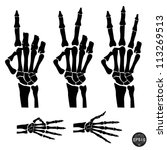 hand skeleton shows the number...