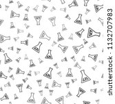 seamless lab pattern on a white ... | Shutterstock .eps vector #1132707983