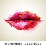 beautiful woman      s lips... | Shutterstock .eps vector #113275333