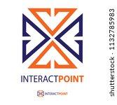 intersection logo design.vector ... | Shutterstock .eps vector #1132785983