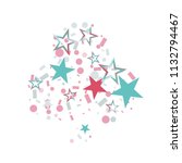 clubs shaped christmas colorful ... | Shutterstock .eps vector #1132794467