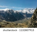 landscape of mountains and... | Shutterstock . vector #1132807913