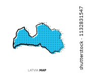 latvia vector country map. map... | Shutterstock .eps vector #1132831547