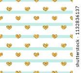 gold heart seamless pattern.... | Shutterstock .eps vector #1132836137