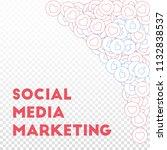 social media icons. social... | Shutterstock .eps vector #1132838537