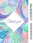 thank you colorful ornamental... | Shutterstock .eps vector #1132838783