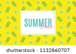 summer time background with ice ... | Shutterstock .eps vector #1132860707