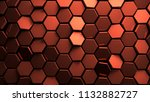 displaced copper abstact... | Shutterstock . vector #1132882727
