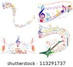 multicolour  musical notes...