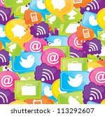 communication icons as cellular ... | Shutterstock .eps vector #113292607