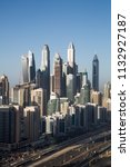 dubai skyscrapers. dubai marina ... | Shutterstock . vector #1132927187