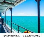 outdoor balcony of boat with... | Shutterstock . vector #1132940957