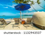 beautiful tropical beach and... | Shutterstock . vector #1132943537