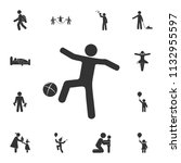 child playing ball icon....