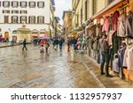 florence  italy  january   2018 ... | Shutterstock . vector #1132957937