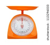 weight measurement balance isolated white background - stock photo