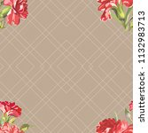 seamless floral pattern with... | Shutterstock .eps vector #1132983713