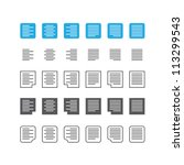 paragraph text align icon set | Shutterstock .eps vector #113299543