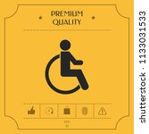wheelchair handicap icon | Shutterstock .eps vector #1133031533