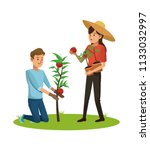 people and gardening | Shutterstock .eps vector #1133032997