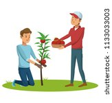 mens and gardening | Shutterstock .eps vector #1133033003