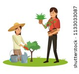 womens and gardening | Shutterstock .eps vector #1133033087