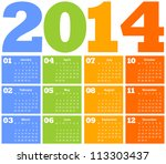 Colorful Calendar. Vector...