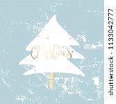 cute vintage simple winter... | Shutterstock .eps vector #1133042777