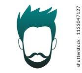 young man faceless cartoon blue ...   Shutterstock .eps vector #1133047127