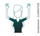young woman faceless cartoon...   Shutterstock .eps vector #1133047133