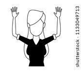 young woman faceless cartoon in ...   Shutterstock .eps vector #1133049713