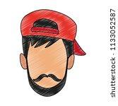 man faceless cartoon scribble   Shutterstock .eps vector #1133052587