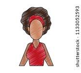young woman faceless cartoon...   Shutterstock .eps vector #1133052593