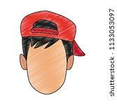 man faceless cartoon scribble   Shutterstock .eps vector #1133053097