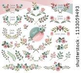 vector illustration of floral... | Shutterstock .eps vector #1133059493