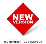 red vector banner new version | Shutterstock .eps vector #1133069903