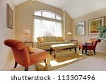 Beautiful classic living room with elegant furniture. - stock photo