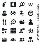 set of vector isolated black... | Shutterstock .eps vector #1133102687