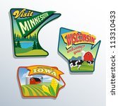 badges,camping,cheese,chicago,clouds and sky,colorful,corn,corn field,dairy cows,decal,elements,family,farm,fishing,fun