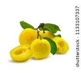 fresh  nutritious  tasty yellow ... | Shutterstock .eps vector #1133107337