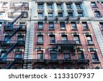 low angle view of old apartment ... | Shutterstock . vector #1133107937