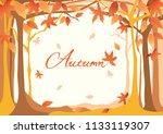 autumn frame design... | Shutterstock .eps vector #1133119307