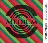 medium christmas badge. | Shutterstock .eps vector #1133120603
