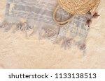 beach towel on sandy floor | Shutterstock . vector #1133138513