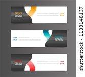 horizontal gradient color... | Shutterstock .eps vector #1133148137